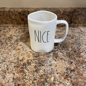 Rae Dunn White Nice mug